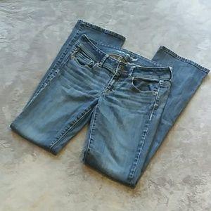 AEO women's size 8 long Original Boot jeans